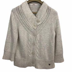 Levi's Buttons Angora Rabbit Hair Blend Sweater